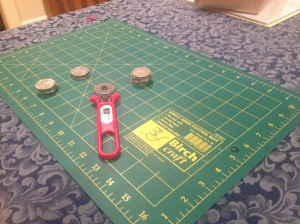 Cutting mat and rotary cutter