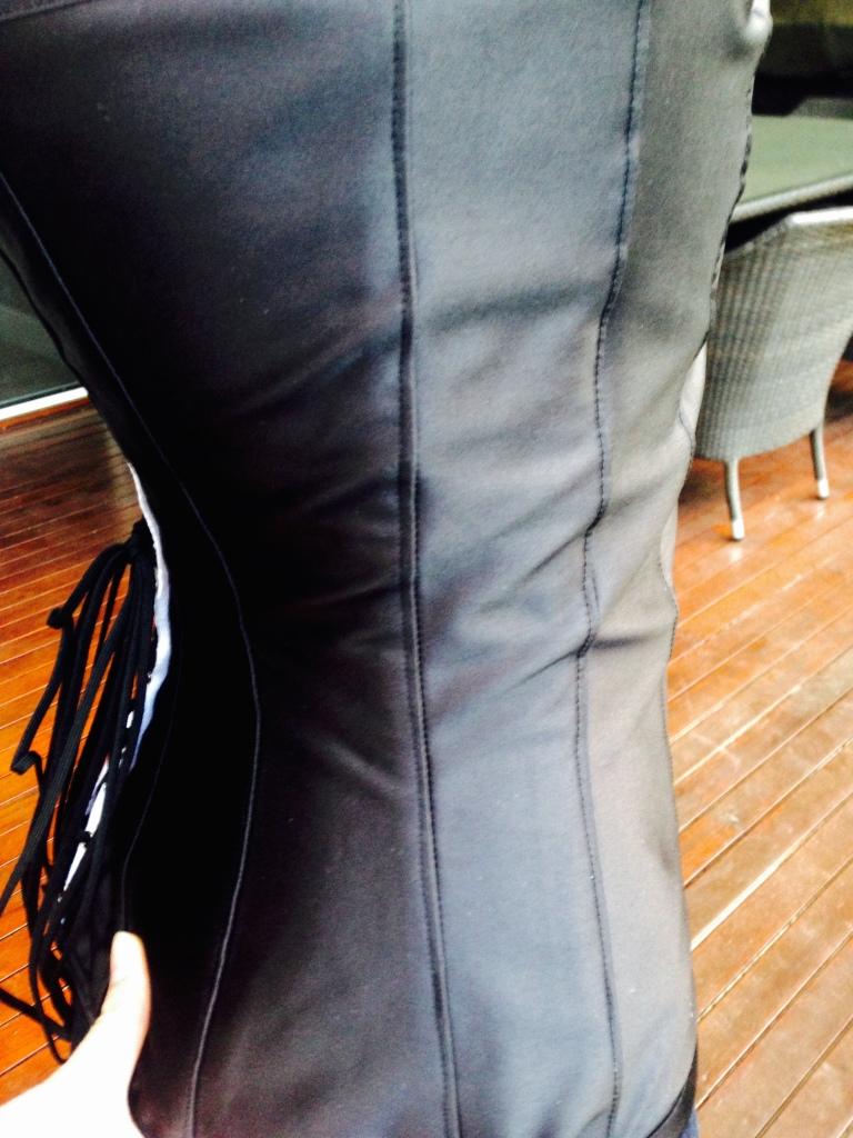 Black Plunge Corset - Side View